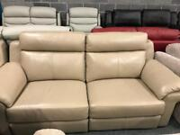 High retail coffee colour real leather suite