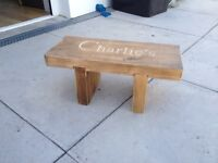 Childs wooden personalised seat/step