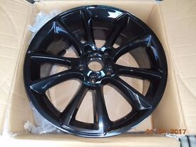 BLACK 18 x 8J alloys rims NEW boxed cheap as 2 only