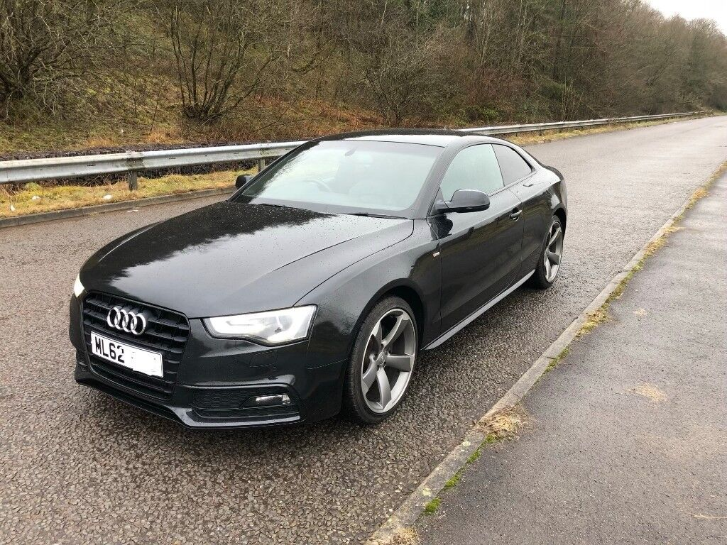 audi a5 coupe s line black edition 2 0 tdi diesel 2012 62 manual 177bhp a1 a3 a4 a6 a7 320d. Black Bedroom Furniture Sets. Home Design Ideas