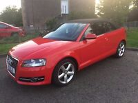 Red Audi A3 Cabriolet 1598 Diesel 3 door. MOT 6th May 2018 , Full Service History , 2 Lady owners