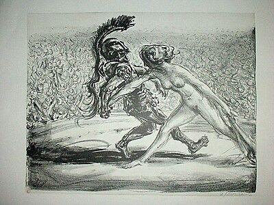 A. Paul Weber, Original Lithographie 1963, signiert, Mars und Venus