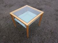Calligaris Solid Wood & Glass Coffee / Lamp Table FREE DELIVERY 362