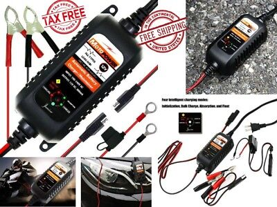 Automatic Battery Charger Maintainer Tender 12V 800mA Motorcycle ATV Boat Car RV Car Battery Charger Set
