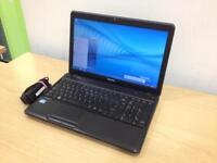 Toshiba i3 laptop with webcam, Windows 7 64-bit