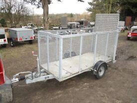GALVANISED 8 X 3-6 CAGED TRAILER WITH ALLOY RAMPTAIL (1300KG BRAKED)...