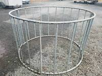 Sheep calf round bale ring feeder for hay silage etc in four sections