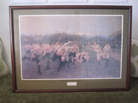 'The Rugby Match' framed print by William Barnes Wollen.