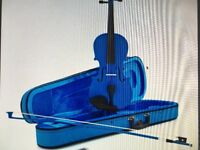 Student Violen 1/2 Blue- immaculate/ like new- ideal gift!