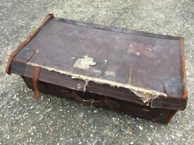 Antique, Retro, Vintage Trunk Suitcase