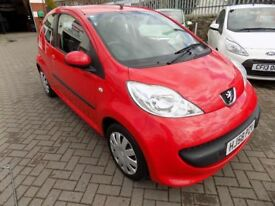 PEUGEOT 107 Urban, 3 Door Hatchback (red) 2008