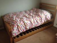 single bed frame with pull out trundle bed on legs (no mattresses) £60