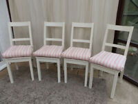 White Painted Chairs x 4 in Farrow and Ball