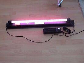 used Juwel T8 light unit with Interpet bluemoon tube 15w for fish tank aquarium 53.5cm L kol