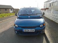 2004 FIAT MULTIPLA BLUE 6 seater FULL YEARS MOT mpv £650 swap considered