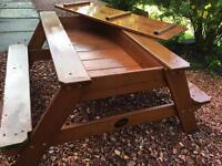 Plum kids children's picnic bench sandpit