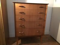 Antique Wooden Chest of Drawers made by Wrighton in 1960s, good condition!