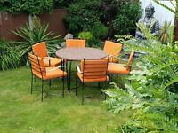 Iron Garden 6 Seater Table & Chairs with Cushions