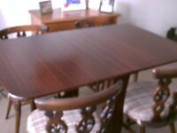 4ft X 2ft 6in DROP LEAF TABLE WITH FOUR CHAIRS