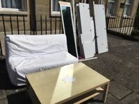 FREE SOFA BED,wardrobe and table collect only