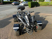 AUTOMATIC QUAD BIKE. 20 MONTHS OLD. ROAD LEGAL. HELMET, SECURITY CHAIN AND RAIN COVER INCLUDED.