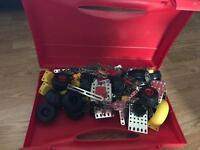 Children's Meccano Set with storage case, construction toys