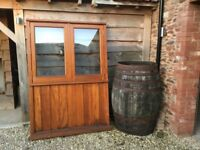 Hardwood Window Frame with solid panel lower section