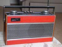 Vintage Roberts transistor radio red