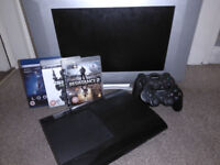 ULTIMATE 500gb Super Slim PlayStation 3 Bundle inc, 2 Controllers and TV - PERFECT GIFT!