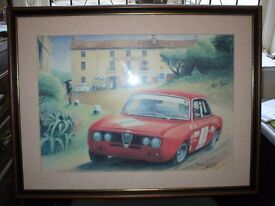 LIMITED EDITION PRINT BY BARRY HUNTER. CIRCA 2003. ALFA GUILIA.