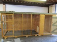 dog kennel 4ft x 4ft with a 8ft run
