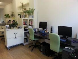 Desk spaces available in friendly studio in Lambeth Walk, Waterloo.