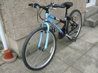 BOYS/GIRLS,LADIES RALEIGH BIKE, IT IS IN VERY GOOD CONDITION IT HAS 18 GEARS A STAND,