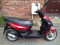 2011 SYM Symply 50 scooter, MOT, red, automatic, good runner, good condition, ride away, bargain,,