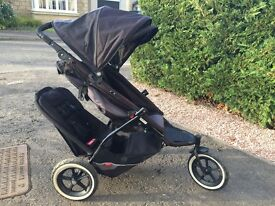 phil&teds Explorer Black/Black Jogger Double Seat Stroller
