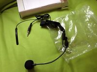 Head microphone with 3.5mm connector (male thread)