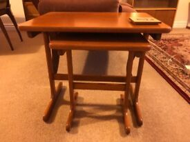 Matching wooden side tables