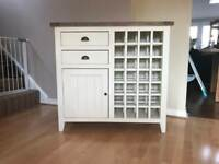 Sideboard with integral winerack