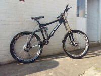 "Custom build Downhill Bike with new parts Adult Size L 26"" wheels"