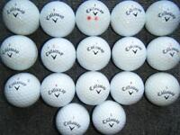 17 Callaway Chrome Soft golf balls in excellent condition