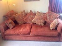 Lovely terracotta John Lewis large sofa
