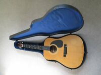 VINTAGE1980'S HOHNER WESTERN SERIES MW-500G ACOUSTIC GUITAR C/W PERIOD HARD CASE