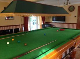 Solid Oak Snooker Table