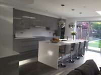 Complete white cream or grey gloss kitchens for only £995!