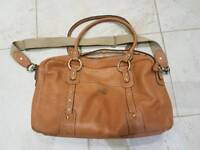 Storksak Elizabeth Tan Leather Change Bag