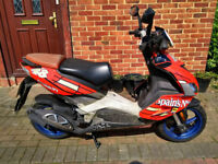 2007 Aprilia SR 50 R scooter, new 1 year MOT, 2 stroke engine, good runner, does 45mph,,,,,
