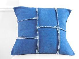 Denim cushion