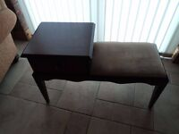 MAHOGANY TELEPHONE TABLE WITH DRAWER IN EXCELLENT CONDITION