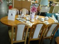 Lovely oval pine table and 6 chairs from John Lewis