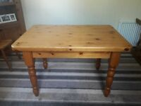 Solid Pine Dining/Kitchen Table & Chairs